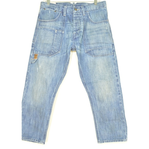 Levi's Denim - Levi jeans 31 x 23 Two Horse Brand NWOT crop butto